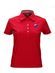 Per donna Manica corta Golf Top Traspirante Materiali leggeri Comodo Golf Attività ricreative
