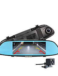 New 6.5 Two Split View Automobile Cam HD 1080P Car monitor Camera Recorder Rearview Dvr Mirror Car Camera
