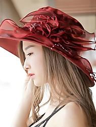 Feminino Casual Chiffon Verão Chapéu de sol,Estampado
