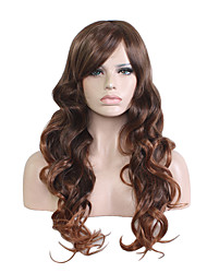 Pelo largo de la manera que teñe la venta grande de la peluca de la señora de la onda que vende como las tortas calientes 26inch