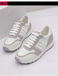 Femme-Décontracté-Blanc-Talon Plat-Light Up Chaussures-Chaussures d'Athlétisme-Gomme