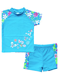 Unisex Floral Floral Swimwear,Polyester Nylon
