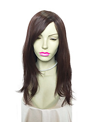 Capless Long Curly Synthetic Wig Women Fashion Hair Wig with Side Part Bangs