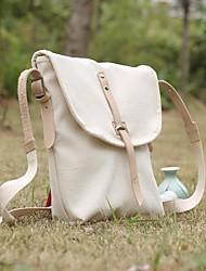 Men PU Outdoor Shoulder Bag White