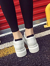 Frauen-Flats Frühling Creepers PU Casual White