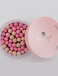 1 Pc Makeup Face Powder Colorful Meteor Gold Pink Pressed Face Powder Makeup Ball Blusher Rouge Pearl Soft Silky Brighten