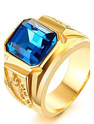 Муж. Массивные кольца Кольцо Мода Панк По заказу покупателя Хип-хоп Rock Euramerican бижутерия Титановая сталь В форме квадрата Бижутерия