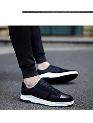 Herren-Sneakers Komfort Stoff lässig grau schwarz weiß