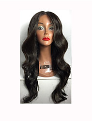 8a perucas completas glueless do cabelo humano do laço perucas onduladas do cabelo humano do corpo brasileiro com cabelo do bebê para