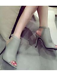 Женские каблуки весенние клубные туфли pu casual синие серые черные