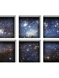 Starry Sky 3D Bathroom Non-Slip Stickers The Floor Tile Individuality Decorative Stickers Light in the Dark