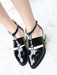 Women's Boots Summer T-Strap Rubber Casual Low Heel