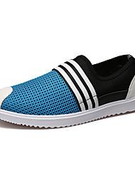 Sapatilhas masculinas queda de primavera conforto pu casuais azul cinza bege