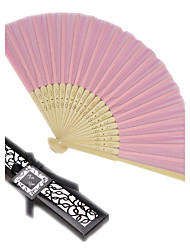 Debutante Ball Pink Silk Hand Fan in Black Box Ladies Night Out Essentials Beter Gifts® Life Style