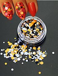 1bottle fashion nail art diy beauté brillant rond paillette décoration colorée ronde tranche p33