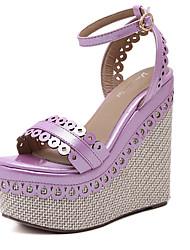 Mujer-Tacón Cuña-Zapatos del club-Sandalias-Vestido-PU-