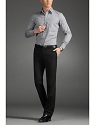 Men's Low Rise Micro-elastic Business Pants,Simple Straight Solid
