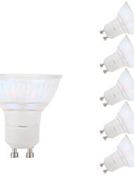 5.5W GU10 Spot LED MR16 1 COB 450 lm Blanc Chaud AC 100-240 V 6 pièces