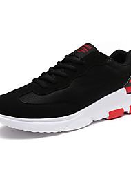 Herren-Sneakers Komfort Synthetik athletisch schwarz / rot schwarz / weiß