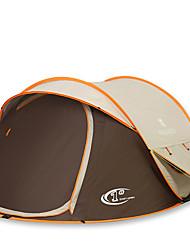 3-4 Personen Zelt Doppel Automatisches Zelt Einzimmer Camping Zelt 2000-3000 mm Kohlefaser OxfordFeuchtigkeitsundurchlässig Wasserdicht