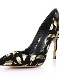 Women's Heels Spring Fall Club Shoes Comfort Novelty Sheepskin Wedding Outdoor Party & Evening Dress Casual Stiletto HeelFuchsia Silver