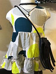 Robe Fille de Décontracté / Quotidien Points Polka Coton Eté