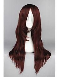 D.grayman-cross maria vermelho escuro anime 26inch cosplay wigs cs-162d