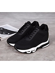 Chaussures athlétiques féminines Ressort comfort pu casual black