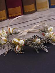 Tecido de linho headpiece-casamento ocasião especial ocasionais grinaldas ao ar livre pino de cabelo 1 peça