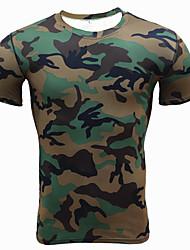 Hombre Camiseta de running Manga Corta Secado rápido Transpirable Suave Compresión Cómodo Camiseta Top para Ejercicio y Fitness Running