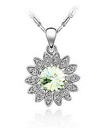 Women's Pendant Necklaces Jewelry Jewelry Gem Alloy Unique Design Fashion Light Green Blushing Pink Red Yellow Purple Jewelry ForParty