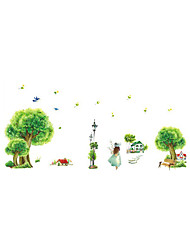 Wall Stickers Wall Decals Style Quiet Village PVC Wall Stickers