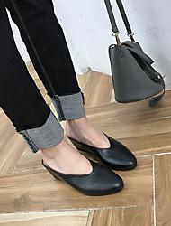 Mulheres sapatos de sol primavera solas pu casuais amêndoa preta