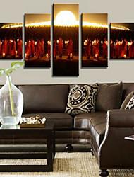Art Print Holiday Modern,Five Panels Horizontal Print Wall Decor For Home Decoration