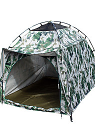 1 person Tent Single Fold Tent One Room Camping Tent 2000-3000 mm Fiberglass Oxford Waterproof Portable-Hiking Camping-
