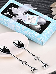 10box Chrome Tea Spoons / ice cream scoops (Set of 2) Wedding Favor Beter Gifts® Beach Party Supplies