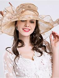 Для женщин Очаровательный На каждый день Панама Соломенная шляпа Шляпа от солнца,Весна Лето Полиэстер Сетка