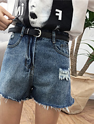 Women's High Rise strenchy Jeans Shorts Pants,Street chic Wide Leg Solid