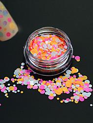 1bottle fashion nail art paillette ronde paillette douce décoration ongle art diy beauté colorée ronde tranche p32