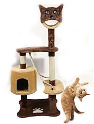 Brinquedo Para Gato Brinquedos para Animais Interativo Tubos e Túneis Tapete de Arranhar Durável Madeira