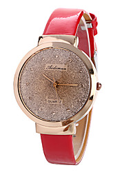 Women's Fashion Watch Quartz Leather Band Casual Black Red Pink