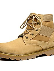 Men's Boots Spring Summer Fall Winter Comfort Suede Outdoor Office & Career Party & Evening Casual Work & Safety Lace-up