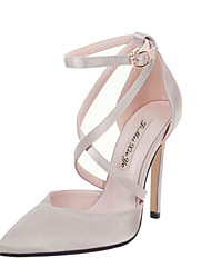 Feminino-Saltos-Sapatos clube-Salto Agulha--Seda-Social