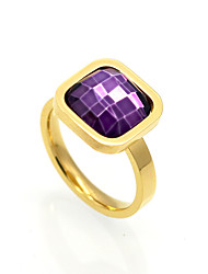 3 Color Classic Luxury Cubic Zircon 18K Gold Titanium Steel Rings Brand Design Vintage Jewelry