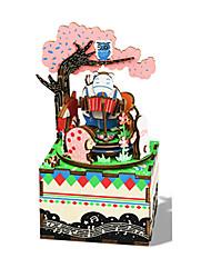 Music Box Square Novelty & Gag Toys Wood Unisex