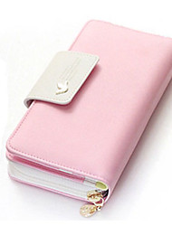 Ms. Long zipper wallet birds buckles color hand bag phone bump zero wallet