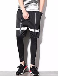 Men's Low Rise Micro-elastic Chinos Pants,Simple Loose Solid