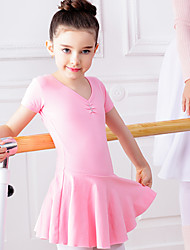 Ballet Dresses Kid's Training Cotton Spandex 1 Piece Dress