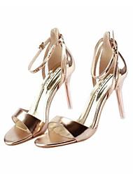 Women's Sandals Summer Slingback PU Casual Gold