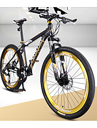 Mountain Bike Cycling 27 Speed 26 Inch/700CC Double Disc Brake Suspension Fork Aluminium Alloy Frame Anti-slip PVC Aluminium Alloy